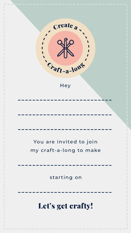 Invite your friends to join your craft-a-long