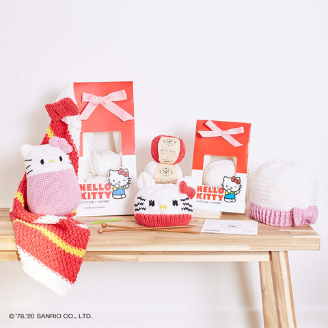 Shop for Hello Kitty knitting and crochet kits at Stitch & Story