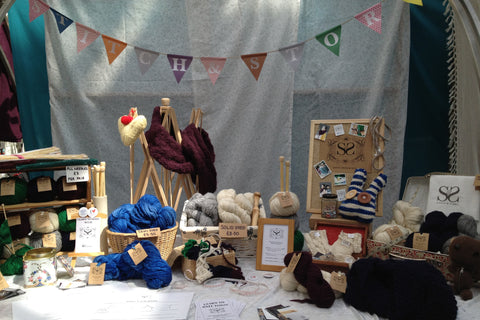 Stitch & Story's first stall at Spitalfields Market in London