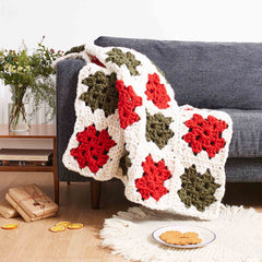 Nonna Throw granny square blanket crochet pattern