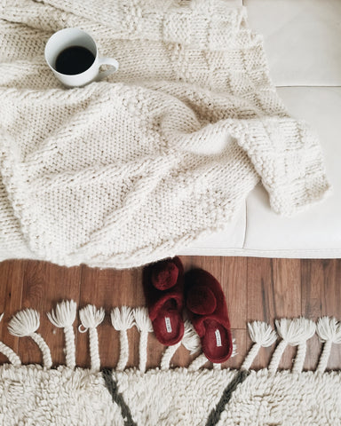 Shop the Bounty Throw knitting kit at Stitch & Story