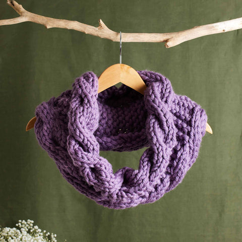 Download the Medway Cable Cowl free knitting pattern