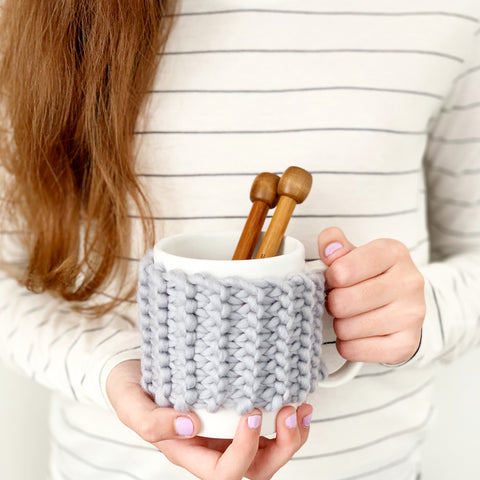 Knit your own mini cup cosy