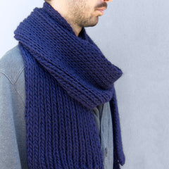 Shop the Vale Scarf beginner's knitting kit at Stitch & Story