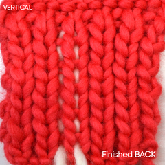 Sewing in your ends vertically