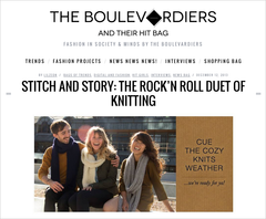 The Boulevardiers | Stitch and Story: The Rock 'n' Roll Duet of Knitting