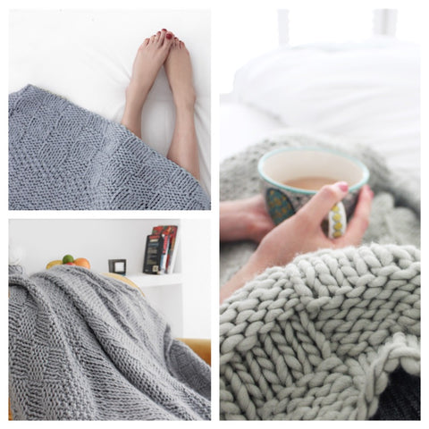 KNITTED THROW KIT