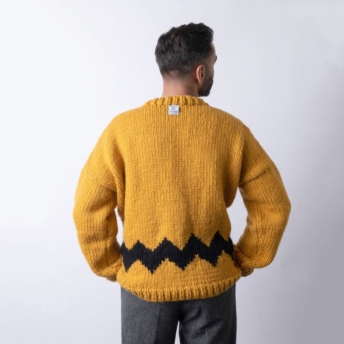 Peanuts: Charlie Brown Men's Sweater Knitting Kit