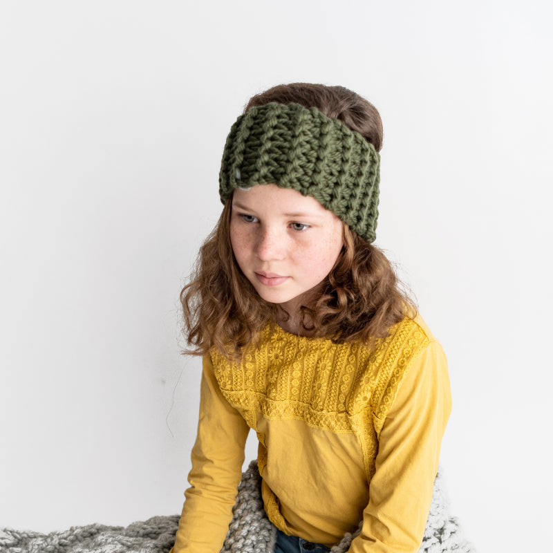 Free PDF Knitting Pattern: Beginners Chunky Headband