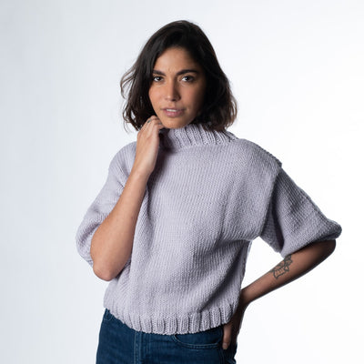 Belle Mock Neck Sweater Knitting Kit