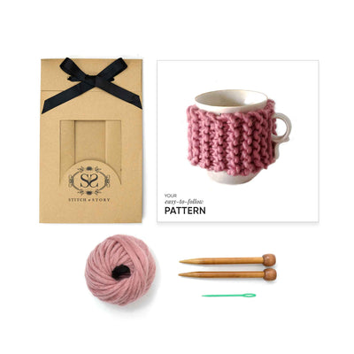 Cup Cosy Mini Knitting Kit