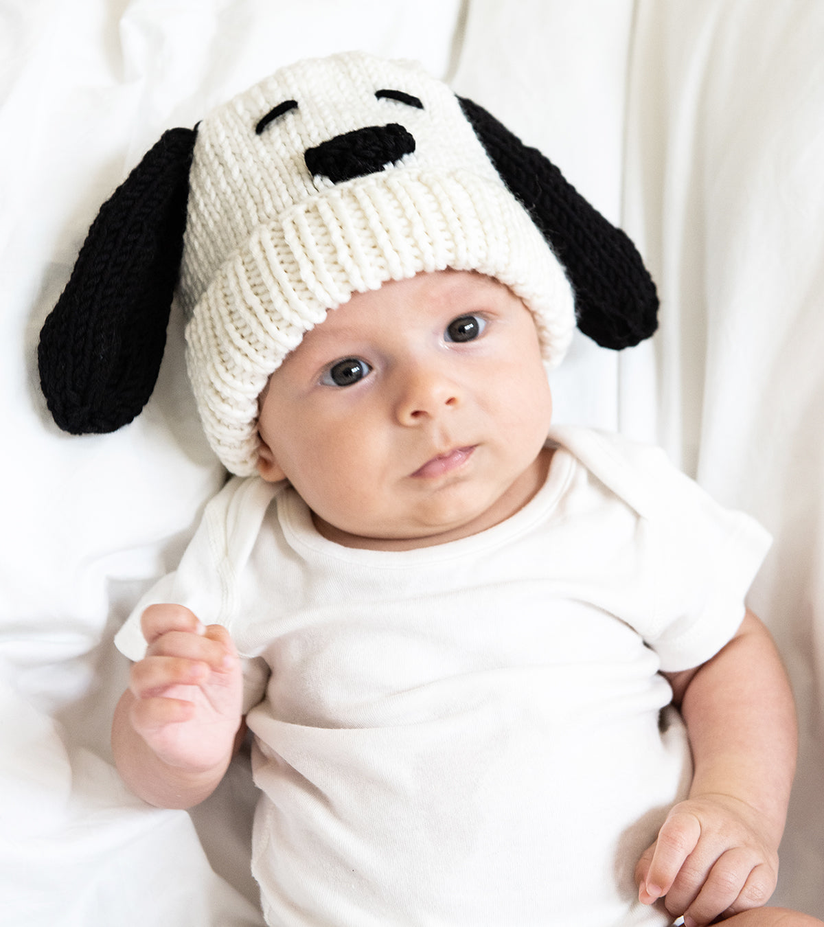 Peanuts: Snoopy Baby Hat and Booties Set Knitting Kit