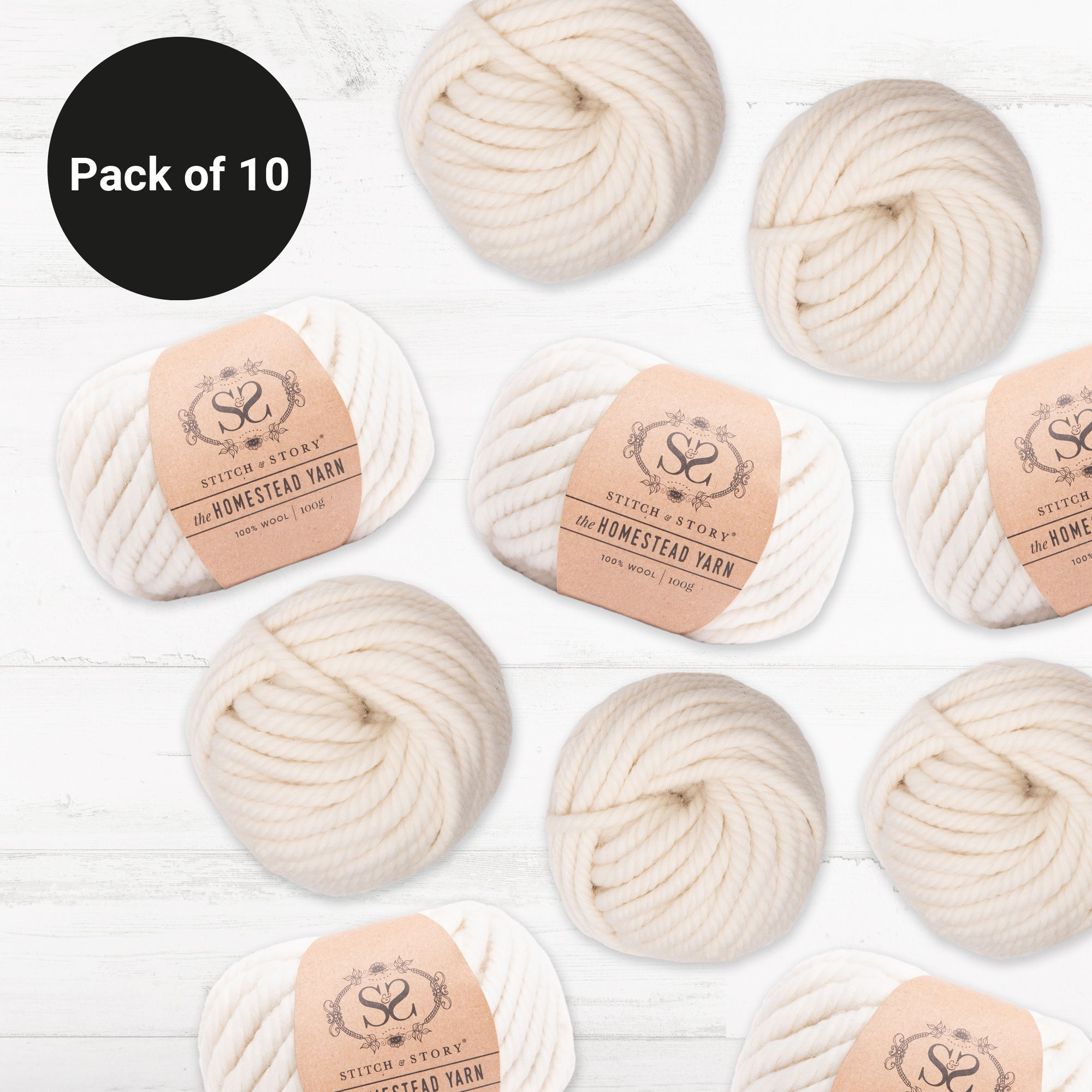 PRE-ORDER Pack of 10 - The Homestead Yarn