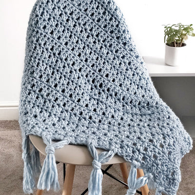 PDF Crochet Pattern: Skye Tassel Throw