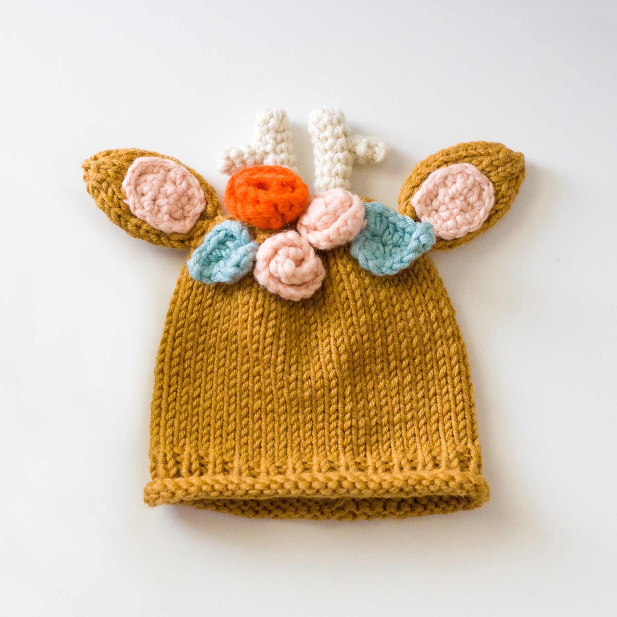 PDF Knitting & Crochet Pattern: Woodlands Deer Hat