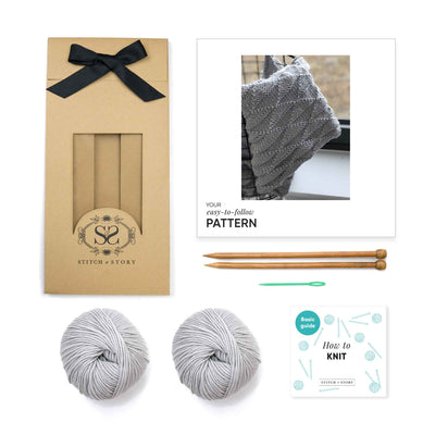 Ivy Geometric Blanket Knitting Kit
