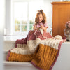 E-book knitting pattern: Lana Patchwork Throw