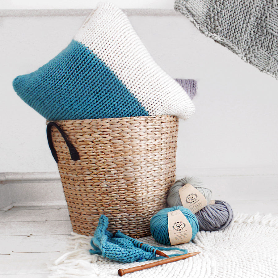 Masley Cushion Cover Knitting Kit