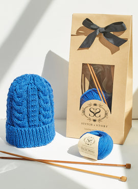 Parker Staghorn Beanie Knitting Kit