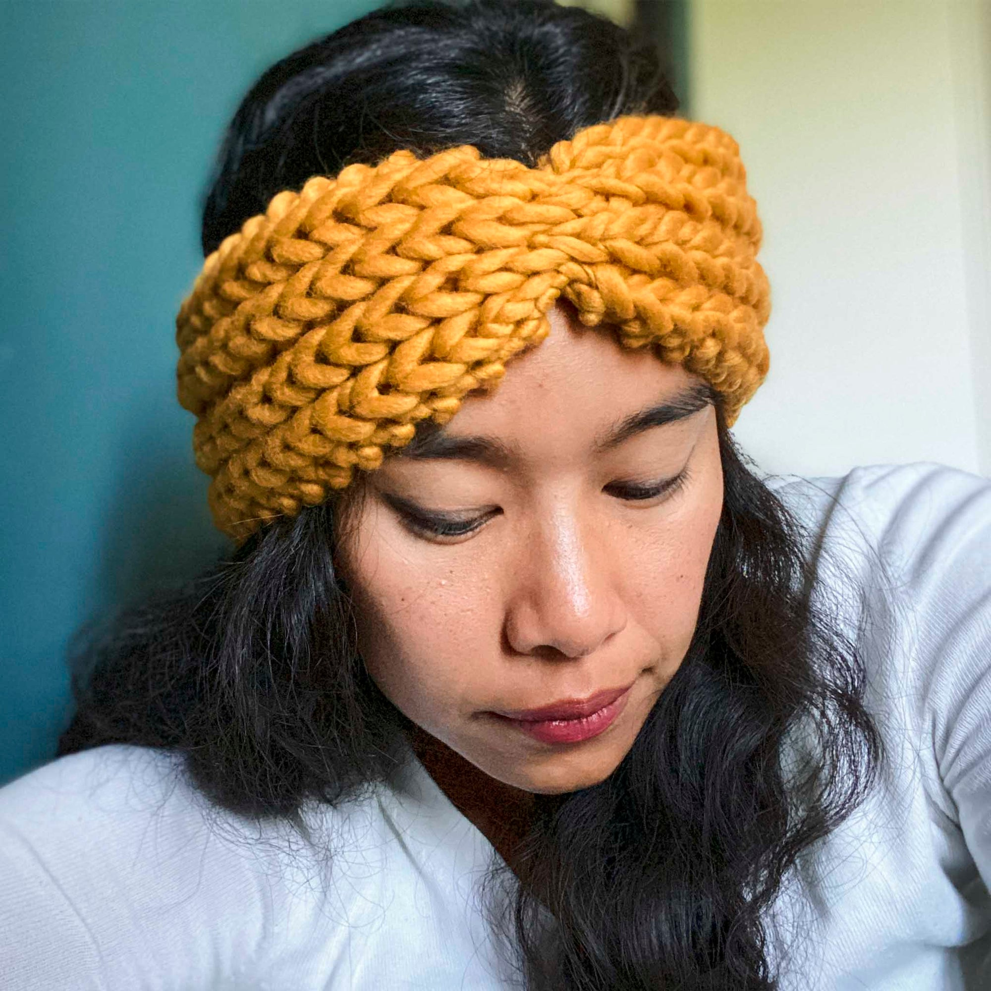 Ribbed Bow Headband Knitting Kit