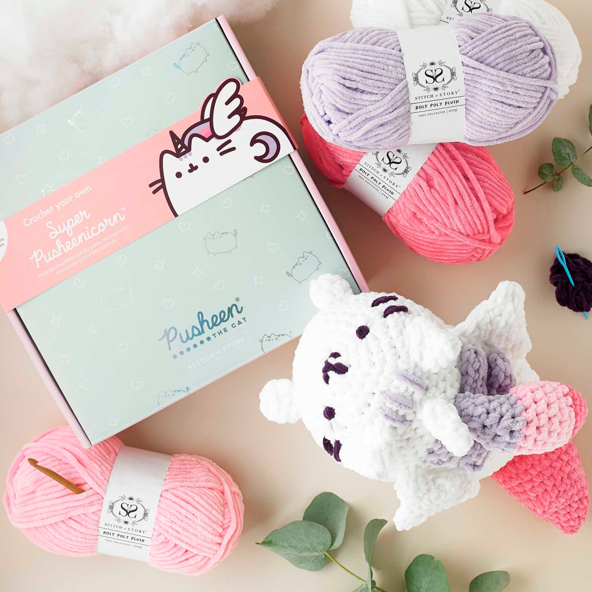 Pusheen: Super Pusheenicorn Amigurumi Crochet Kit