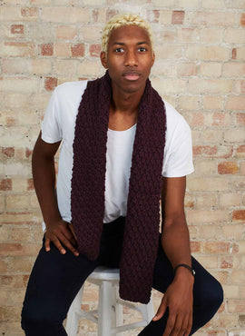 Theo Pebble Scarf Knitting Kit