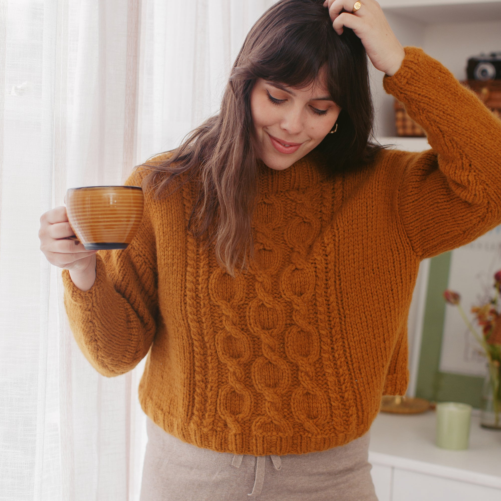 PDF Knitting Pattern: Venezia Cable Sweater