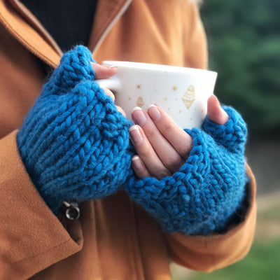 Freya Fingerless Gloves Knitting Kit