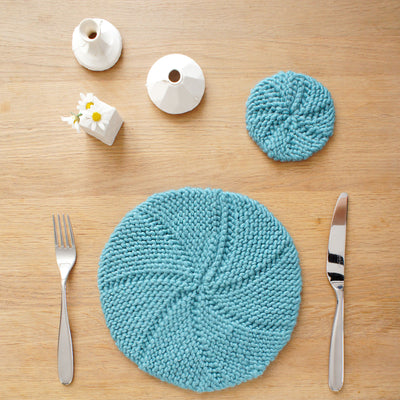 PDF Knitting Pattern: Ome Placemat & Coaster