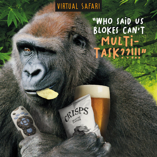 Virtual Safari, Multi-task, Birthday Greetings Card