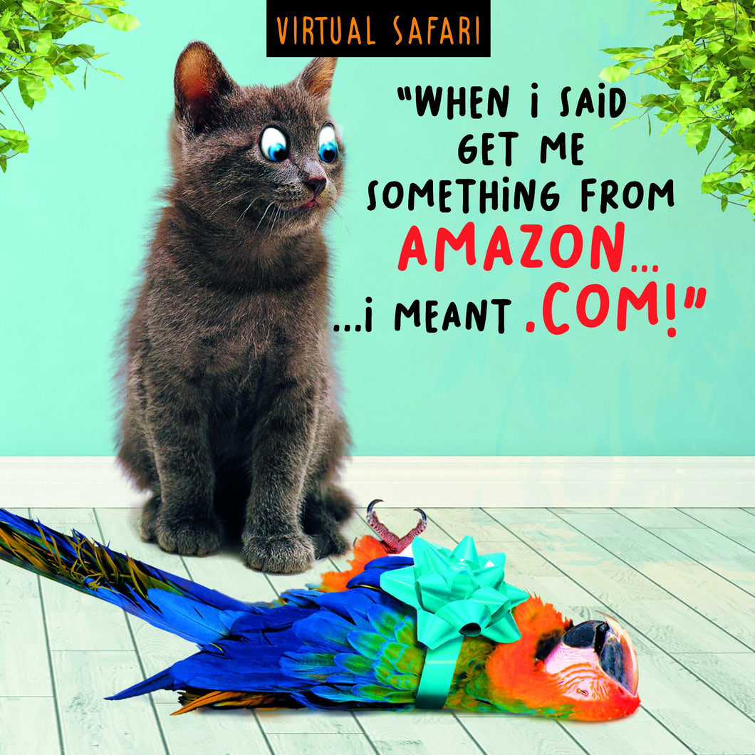 Virtual Safari, Amazon, Birthday, Greetings Card