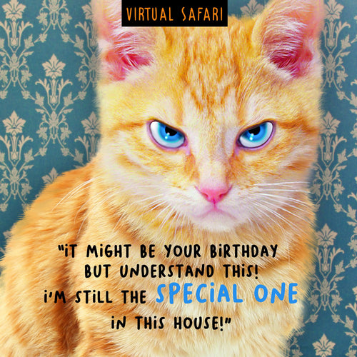 Virtual Safari, Special, Birthday Greetings Card