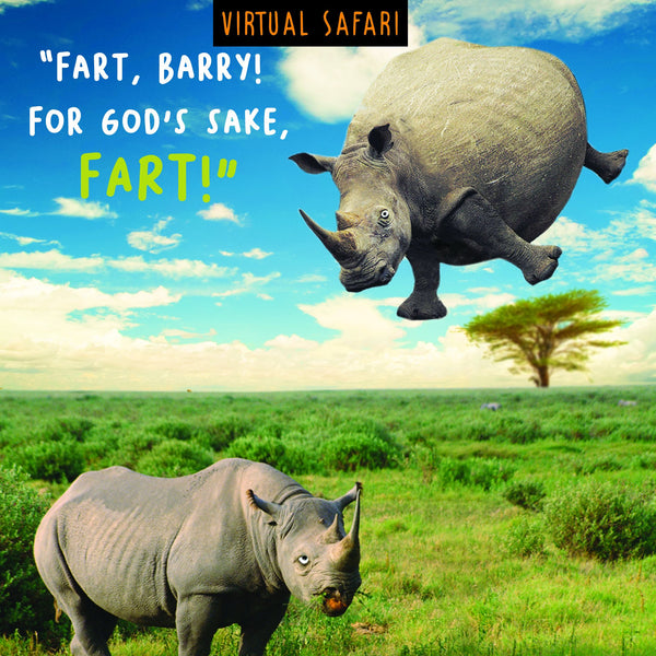 Virtual Safari, Fart, Open Greetings Card