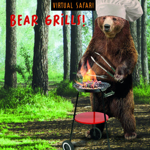 Virtual Safari, Bear Grills, Birthday Greetings Card