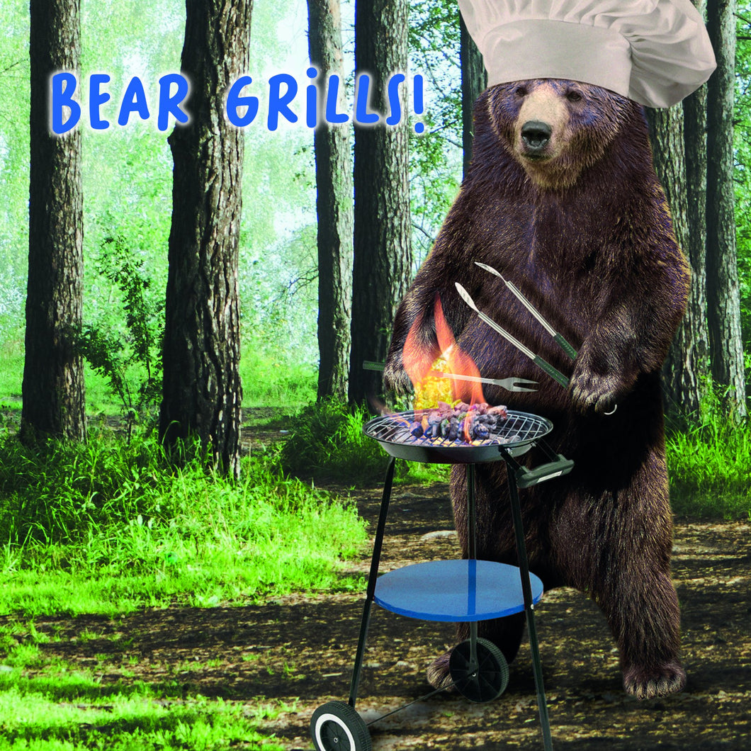 Virtual Safari, Grills, Open, Greetings Card