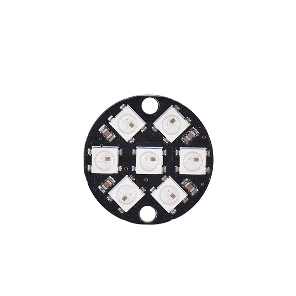 "WS2812B 5050 ""Smart RGB"" LED Ring/Disk 7 Pixels"