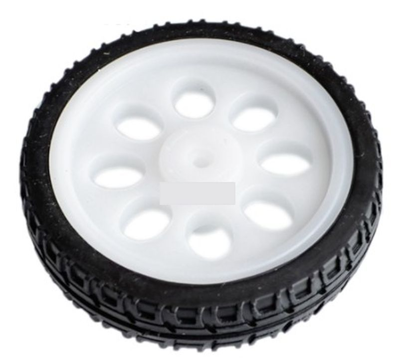 65mm White Wheel for TT (Yellow) Motors