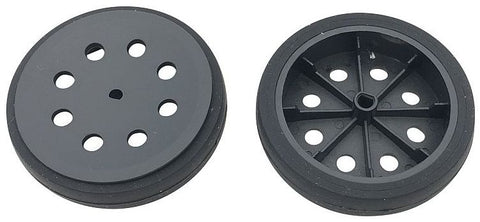 Pair of 47mm Black Wheels for N20 Metal Gear Motors