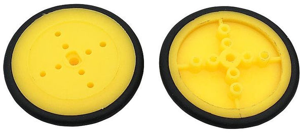 Pair of 42mm Lilac or Yellow Wheels for N20 Metal Gear Motors