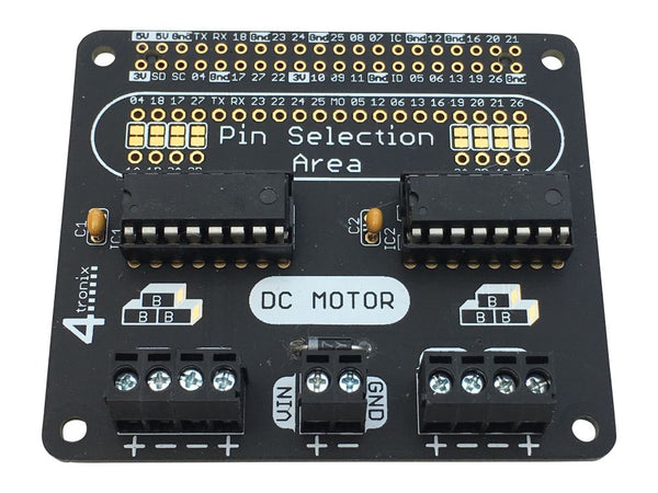 Quad Motor Controller KIT for 40-pin Raspberry Pi