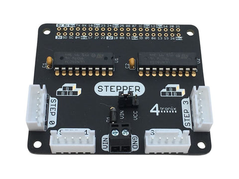 Quad Stepper Motor Driver  KIT for 40-pin Raspberry Pi