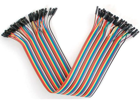 Jumper Cables Strip of 40 Various Lengths and Male/Female