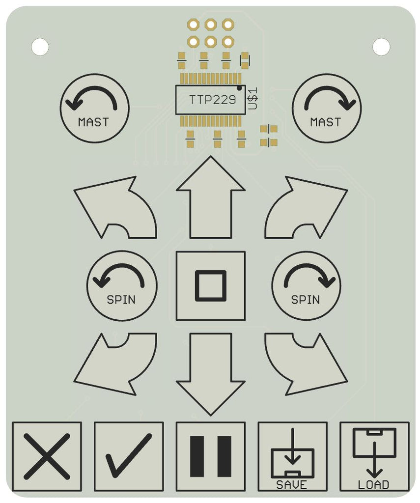 Keypad for M.A.R.S. Rover Robot