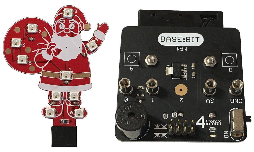 Music Box (Base:Bit) with Blinky Santa