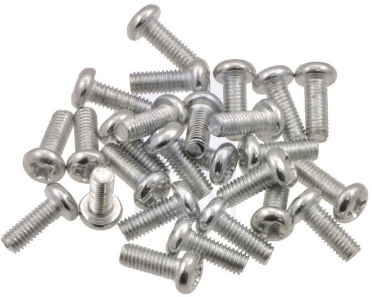 M2.5 Pan Head Screws 6mm Pack 10