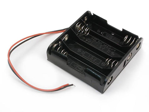 3, 4, 5 and 6 cell AA Battery Holder with wires