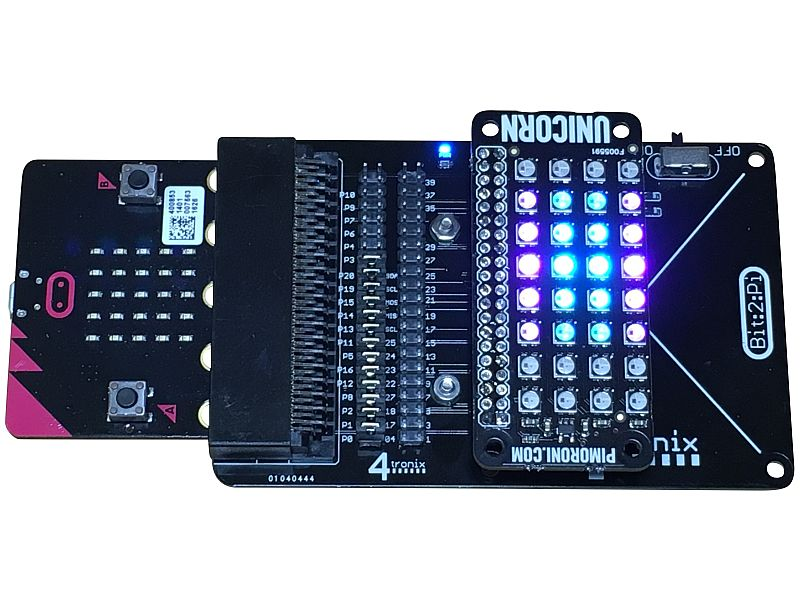 Bit:2:Pi BBC Micro:Bit adaptor for Raspberry Pi HATs (Bit2Pi)