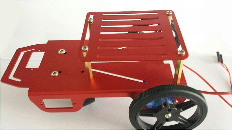 Mini Robot 2WD Chassis Kit - 2 Layers with Motor Driver
