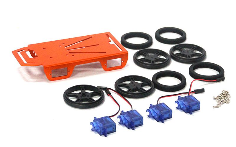Mini Robot 4WD Chassis Kit - 1 Layer