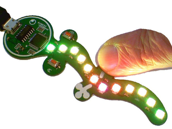 Gecko – The Friendly Flashy Codable Wearable Computer